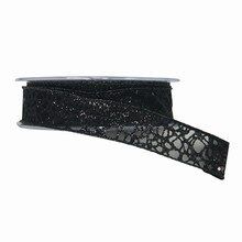 Sparkly Sheer Black Ribbon (1in)