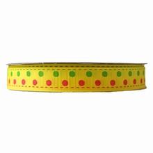 Ruban grosgrain jaune (15mm)