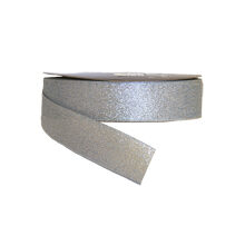 Sparkly Silver Ribbon (1in)