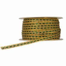 Ruban à cordelette or et vert scintillant (5mm)