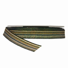 Ruban à rayures vert scintillant (15mm)