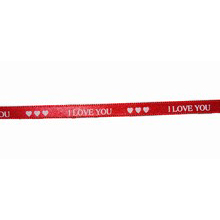 """Ribbon """"I love you"""" (1/4in)"""