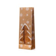 Christmas Tree Cutout Kraft Paper Bag