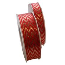 Red and copper chevron ribbon (0.5-1in)
