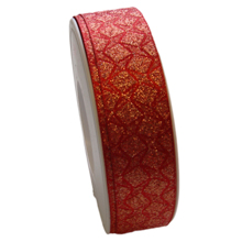 "Red ""Retro"" ribbon (25mm)"