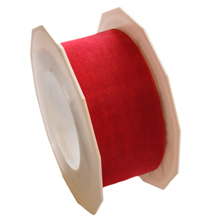Sheer Red Ribbon (1.5in)