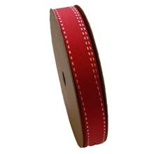 Grosgrain ribbon red (15mm)
