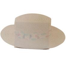 Boater hat, Pastel