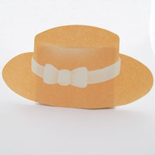 Peach boater hat
