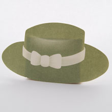 Gray boater hat