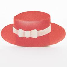 Chapeau canotier Rouge