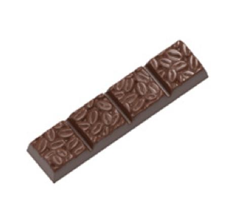 Moule à chocolat barre avec grains de café