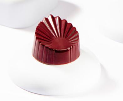 Moule à chocolat feuille plissé