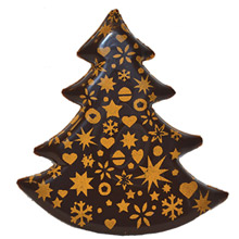 Blister Golden Christmas trees