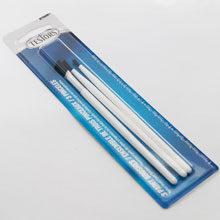 Set of three Testors brushes