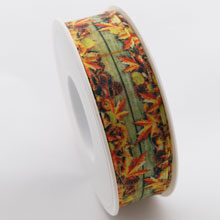 Autumn leaf ribbon
