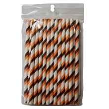 Brown and orange Stripes Cake Pop Sticks