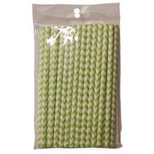 Bâtonnets pour cake pop motif chevron vert
