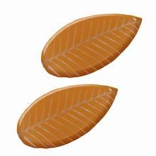 Plaque à remplir feuilles marrons