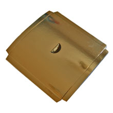 Plateforme 1/2lb carré or
