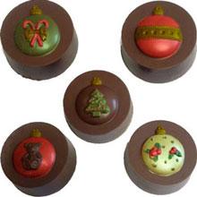 MOULE À CHOCOLAT SANDWICH ROND ORNEMENTS