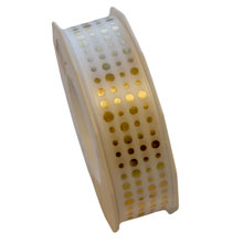 Golden polka dot ribbon (1inch)
