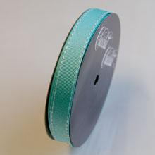 Ruban gros grain bleu aqua (15mm)