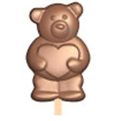 Bear Heart Lollipop Mold