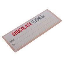 STICKER CHOCOLATE WISHES!