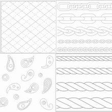 Print mat, assorted deluxe textile patterns
