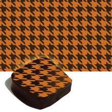 Orange houndstooth transfer sheets