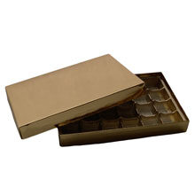 1lb gold rectangle box, without window