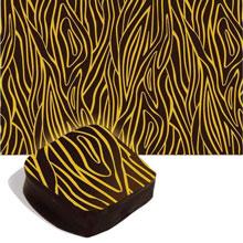 Feuilles de transfert de chocolat à l'écorce jaune