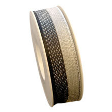 Black and silver ribbon (1in)