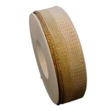 Ruban ivoire et or (25mm)