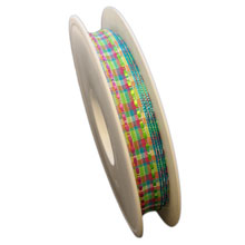 Ruban laitonné multicolore avec transparence (15mm)