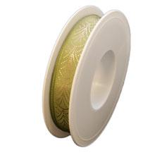 Ruban art deco olive (15mm)