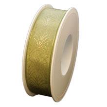 Ruban art deco olive (25mm)
