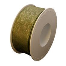 Art deco olive ribbon (1.5in)
