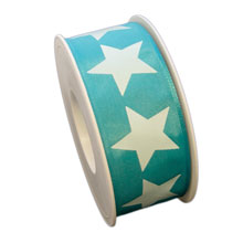 Ruban avec étoile bleu (40mm)