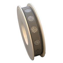 Ruban gris à pois scintillant (15mm)
