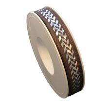 Holographic herringbone ribbon (0.6in)