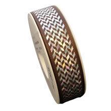 Holographic herringbone ribbon (1in)