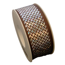 Holographic herringbone ribbon (1.5in)