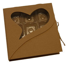 """Rigid box """" heart sincere """" (9ct)"""