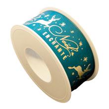 """Noël enchanté"" ribbon (1.5in)"