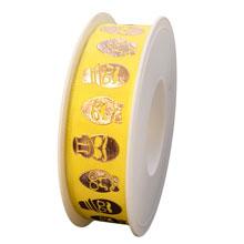 Œufs déguisés cuivrés, sur fond jaune (25mm)