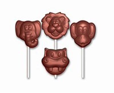 Sucettes animaux moule chocolat