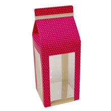 Pink box berlingot, white dots