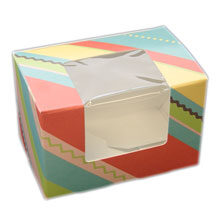 Striped boxes in pastel colors (S)